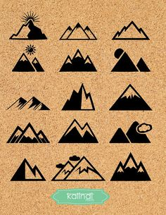 Mountain SVG file. It is high quality 15 SVG images, grouped in ONE SVG file and 1 300dpi PNG file. Use for Scrapbook, Cardmaking, Handmade Stationery, Invitations, Place Cards, Tags, Wrapping Paper, Books and Journals Hardcovers, Jewelry, Cards, Decoupage, Decorated Furniture, Packaging, Crafts for Weddings, Birthdays, Parties and any DIY Project.    YOU WILL RECIVE: --------------------------------------- 1 SVG file with 15 GROUPED SVG images. You will need to ungroup them before use. 1…