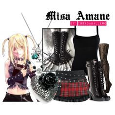 """Misa Amane - death note"" by issacaballero on Polyvore"