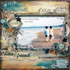 ocean view - I don't do crafts (altho I love them!), but I sure enjoy seeing everything that people make and do. This one is a scrapbooking page. So beautifully creative!