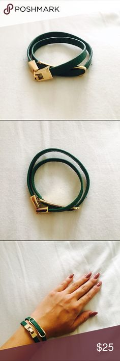 Green Faux Leather Necklace/Bracelet Green Faux Leather Necklace/Bracelet   Instagram: @Lina.Chen BCBGMaxAzria Jewelry