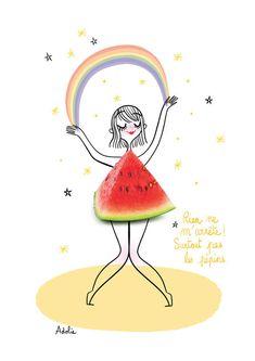 Funny Illustration, Photo Illustration, Creative Sketches, Creative Art, Art Mignon, Photo Boxes, Cute Fruit, Girly, Art Graphique