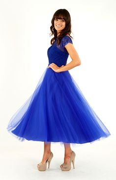 A fabulous royal blue Prom Dress by Crystal Breeze.