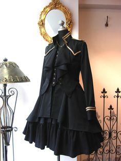 Gosh I love military lolita Cosplay Outfits, Dress Outfits, Cool Outfits, Dress Up, Fashion Outfits, Dress Boots, Lolita Fashion, Gothic Fashion, Rock Fashion