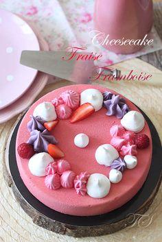 Cheesecake fraise framboise