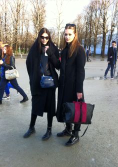 Models off duty after the Elie Saab show at the Tuileries #PFW