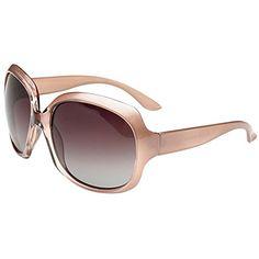 MOTINE Oversized Womens Polarized Sunglasses Fashion Sunglasses UV400 Champagne -- Want additional info? Click on the image.