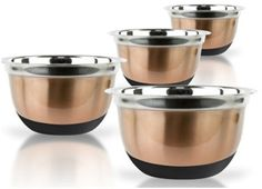 german mixing bowl set - copper finish 4 piece Case of 12