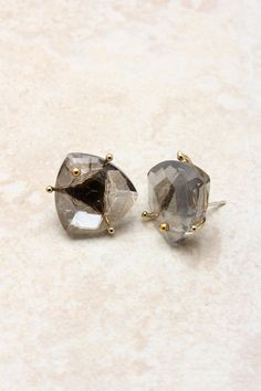 emma stine | 14k black diamond earrings