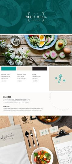 Logo and branding for upcoming Oxford restaurant Youdaimonia by Lisa Furze Restaurant Identity, Restaurant Menu Design, Restaurant Concept, Restaurant Restaurant, Restaurant Marketing, Web Design, Food Design, Graphic Design, Food Branding