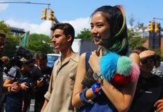 Colorful Hair Makes a Comeback: New York Fashion Week Street Style for more fashion and beauty advise check out The London Lifestylist http://www.thelondonlifestylist.com
