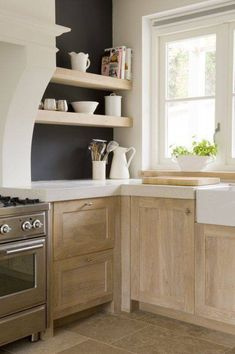 Bleached Oak Cabinets - loving this 2018 kitchen trend