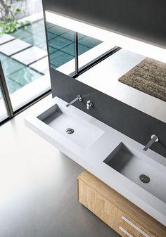 mueble de baño simple suspendido de fenix-ntm® sense 04 colección ... - Arredo Bagno Pozzuoli
