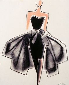 Fashion Illustration by Mats Gustafson (Swedish, 1951)