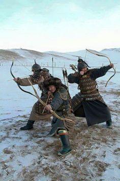 Mongolian warriors
