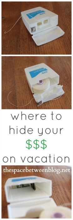 a little secret hiding spot for your money while you're traveling