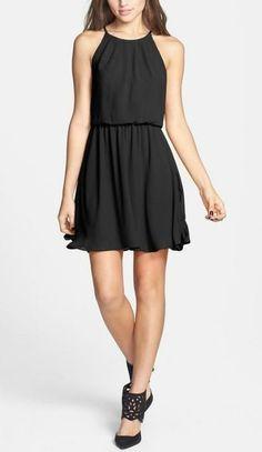 Little Black Dress: Lush Chiffon Skater Dress