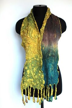 Nuno Felted Scarf -- love the colors