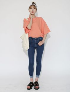 Dress Up Confidence! Global Young Girls Trendy Style Maker 66girls.us Essential 3/4 Sleeve T-Shirt (DHBN) #66girls #kstyle #kfashion #koreanfashion #girlsfashion #teenagegirls #fashionablegirls #dailyoutfit #trendylook #globalshopping
