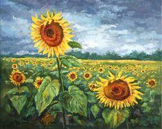 Vincent van Gogh Acryl Glasbild Wandbild Fliese Van Gogh/'s Sunflowers Blumen