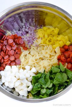 this Pasta Salad Recipe made with Italian Dress is SO easy! Fantabulosity