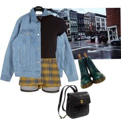 w by junk-food on Polyvore featuring River Island, Bitching & Junkfood, Dr. Martens and Kate Spade