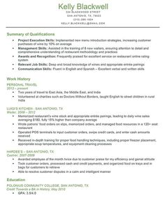 Sample Resume For Someone Seeking A Job As An Accounting Manager