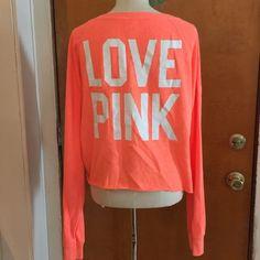 Victoria's Secret PINK!  Bright Orange Top Victoria's Secret PINK!  Bright Orange Top   Like new. No Tags No piling PINK Victoria's Secret Tops Sweatshirts & Hoodies