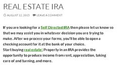 Self Directed IRA Investments. https://selfdirectedira124.wordpress.com/