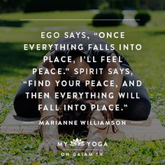 My Yoga on Gaiam TV's inspirational quote