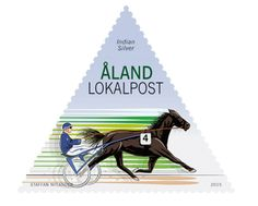 COLLECTORZPEDIA: Aland Islands Stamps Harness racing - Indian Silver