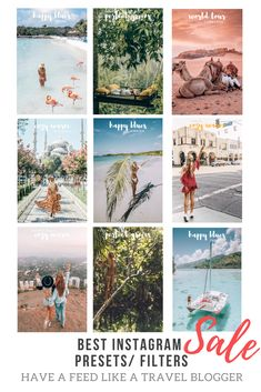 Best Instagram filters / presets. Available to FREE Lightroom CC mobile app. SO EASY to have a feed like a travel blogger. #instagram #feed #instagramers #blogger #travelbloggers #travel #instagramfilters #filters #lightroom #lightroomcc #travelinhershoes #fashion #fashionfilters #instagrampresets #presets #lightroompresets #insta #vsco #howtoedit #edit #instagram #photos