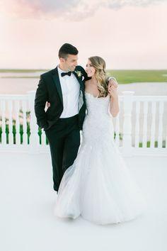 Photography : Love & Light Photographs | Grooms Attire : Calvin Klein | Wedding Dress : Mark Zunino Read More on SMP: http://www.stylemepretty.com/2016/10/11/blogger-bride-jess-galfo-wedding-part-ii/