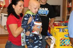"Jessie Rees Foundation's Mobile Joy Lab at CHOC Childrens! Courageous kids went ""shopping"" for their own JoyJar toys!"