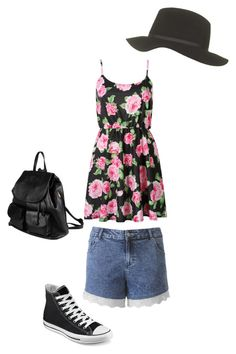 Floral by elizabeth-towers on Polyvore featuring Converse, PARENTESI and Topshop
