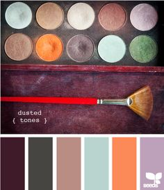 Love these dusted tones. Maybe take out the blue and add another shade of orange/peach.