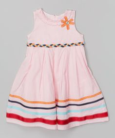 Look at this Donita Pink Stripe A-Line Dress - Infant, Toddler & Girls on #zulily today!