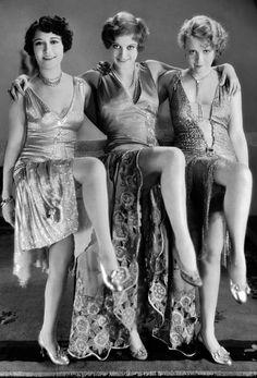 Dorothy Sebastian, Joan Crawford and Anita Page in Our Dancing Daughters 1928 …۰⋱‿✿╮