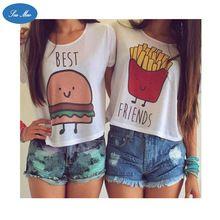 2016 Summer Fashion Harajuku Punk t shirt Women Hamburger And French Fries…