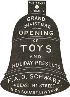 Antique Christmas Advertisement Ornament bell free printable - KnickofTime.net
