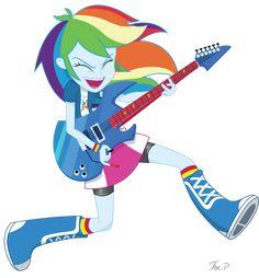 Equestria Girls Rainbow Dash - Jump Rock by JoeMasterPencil on DeviantArt
