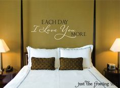 I Love You Vinyl Wall Decal   Bedroom Decal  Wedding Decal Gift   Love  Vinyl Lettering