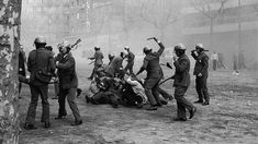 Mexican police beat civilians during the Tlatelolco Massacre in Mexico City, Mexico in Police Beat, Democracy And Human Rights, Historical Pictures, Mexico City, Vintage Images, Che Guevara, Barcelona, Around The Worlds, Photo And Video