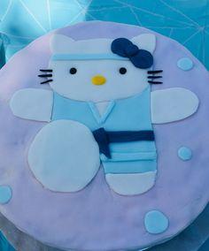 Maeve's 5th birthday cake - karate kitty