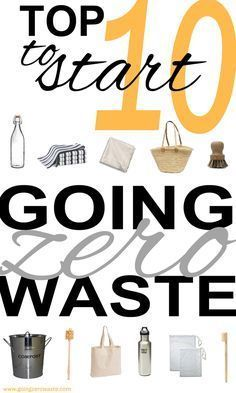 10 easy steps to reduce your waste! Go zero waste to save money and lessen your impact with a few tips from http://www.goingzerowaste.com