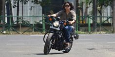 Sangeeta Vinodkumar is the first woman in the state of Kerala (India) to own and ride a Harley Davidson.