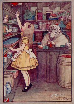 Through The Illustrated Looking Glass: Chapter 5 ~ Wool And Water (Alice in Wonderland)
