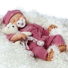 Baby Doll Lifelike Real Newborn 16 Girl Vinyl Realistic Sleeping - http://www.babies-clothes.info/baby-doll-lifelike-real-newborn-16-girl-vinyl-realistic-sleeping/