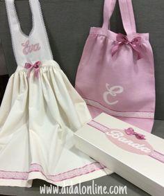 Bolsa de mantón , delantal y caja de banda para Eva