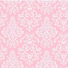 York Wallcoverings Kids Delicate Pink Damask Wallpaper