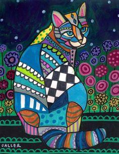 Garden Cat ♥ Artist: Heather Galler, New York